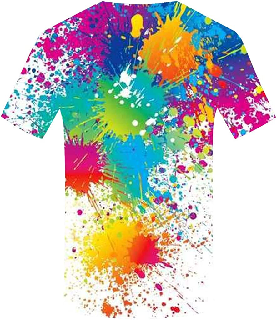 waotier Camiseta Nuevo diseño Unisex 3D Graffiti Printing ...