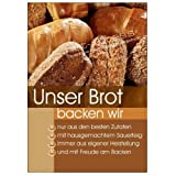 net-xpress Werbeplakat Unser Brot für Bäckerei-Werbung