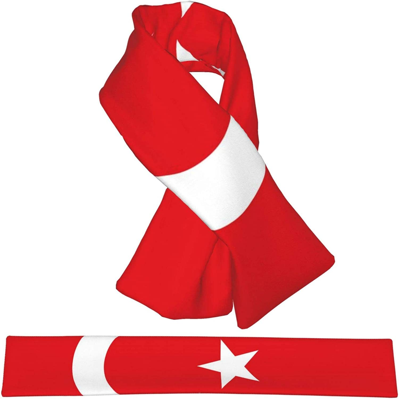 Winter Scarfs Turkey Flag Scarves Wraps Neck Warmer Flannel Winter Cross Tie Scarves