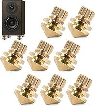 Copper Speaker Spikes, Speaker Subwoofer Suspension Spikes Isolation Stand Feet(Pack of 8)