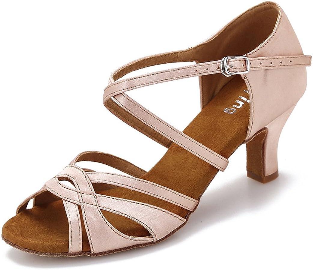 YYTing Women Max 49% OFF Ballroom Dance Shoes Latin Washington Mall Salsa Performanc Bachata