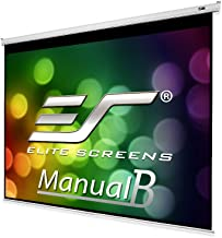 Elite Screens Manual B Series, 100-inch Diagonal 4:3, Pull Down Projection Manual Projector Screen with Auto Lock, M100V