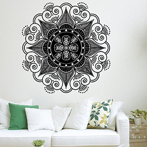 Vinilo Decorativo de Pared Mandala Boho Bohemian Calcomanías para el hogar, el Estudio de Yoga, el Dormitorio, el Dormitorio