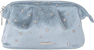 IYOU Moda Terciopelo Bolso de Cosméticos Estrella Azul Maquillaje bolsas Belleza Organizador Mano Bolsa de sujeción Portát...