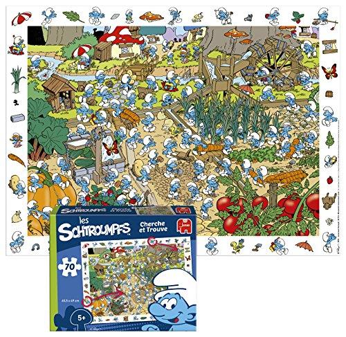 Diset Sa- Puzzle - Schtroumpf, 70 Pièces (TOY41034)