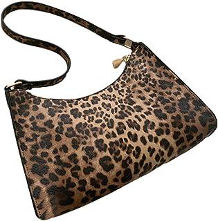 WangWtry Borsa Baguette Zebra/Leopard/Cow Pattern Borsa A Tracolla Singola da Donna Borsa per La Spesa con Cerniera Liscia...