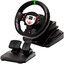 DOYO 180 Degree Motor Vibration Driving Sport Gaming Racing Wheel with Responsive Gear and Pedals for XBOX One/PS3/SWITCH/PC/TV BOX
