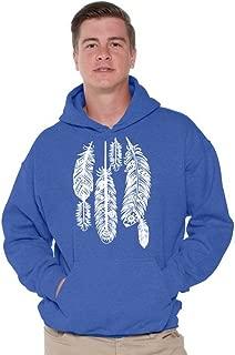 Awkwardstyles Feathers Hoodie Native American Hooded Sweatshirt W + Bookmark