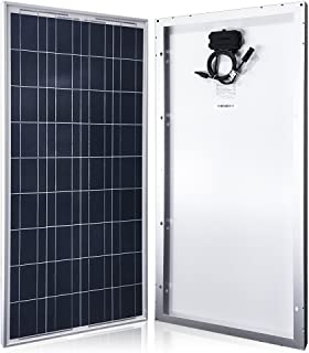 ACOPOWER 100w Panel, Polycrystalline PV Solar Charger with MC4 Connectors for 12v Battery, Silver Frame