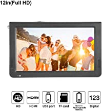 12 inch Portable Digital Television, Fosa Small 16:9 ATSC 1080P HD HDMI Video Player TFT LED TV Built-in Rechargeable Battery Support USB and TF Card for Car, Caravan, Camping, Outdoor or Kitchen(12