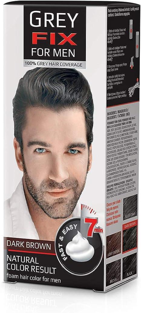 GREYFIX Tinte para el cabello para hombre, color marrón oscuro, 40 ml