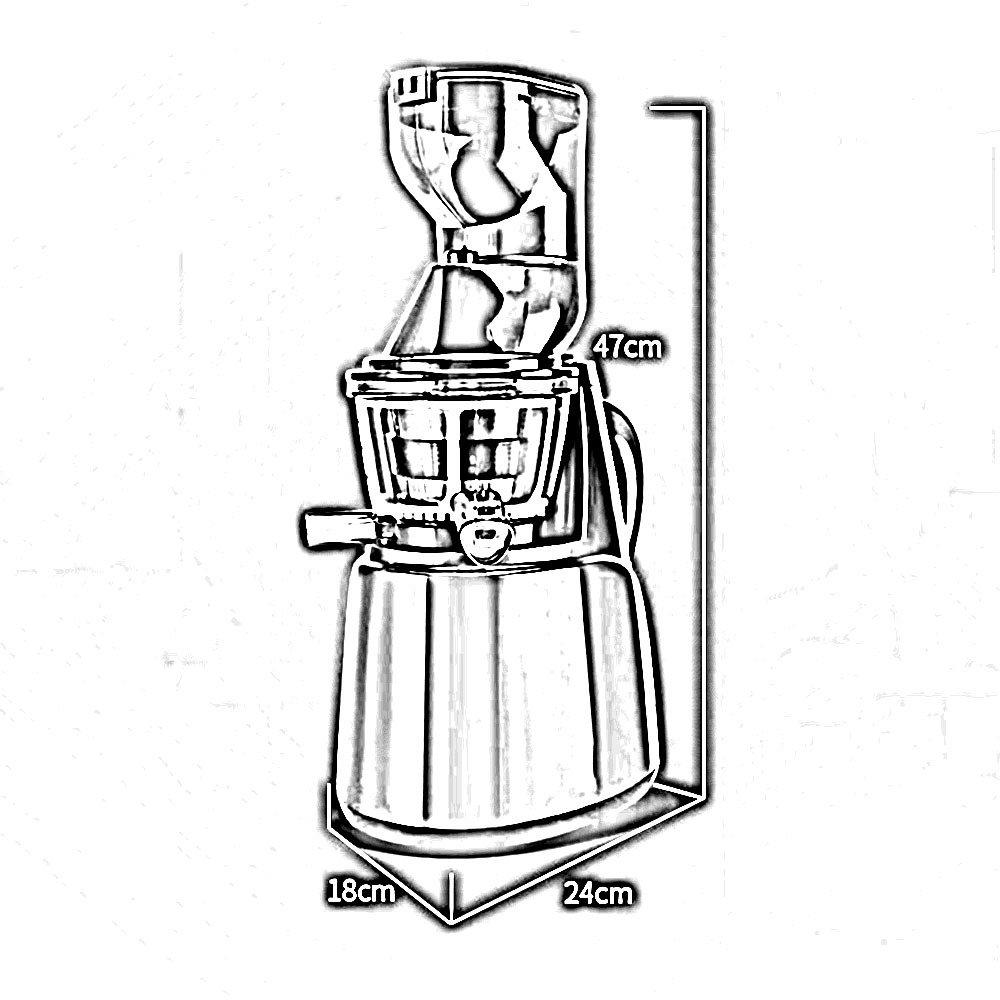 LDFN Exprimidor Jugo De Separación Gran Diámetro Juicer Slow Slow Grinder Juicer Hogar Eléctrico De Múltiples Funciones Juicer Automático, Red: Amazon.es