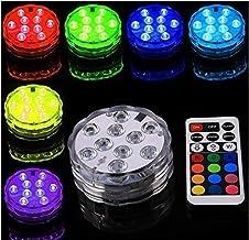 Zwembad Verlichting 4 Stuks, LED Onderwaterlicht met 4 Afstandsbediening 16 Warme Kleuren, Multicolor RGB 10 LED Waterbest...
