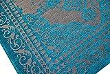 Moderner Teppich Designer Teppich Orientteppich Wohnzimmer Teppich mit Bordüre in Türkis Beige Größe 160x230 cm - 7