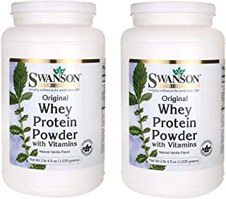 Sponsored Ad - Swanson Original Whey Protein Powder with Vitamins Sports Nutrition Muscle Workout Support 2 lbs 4.5 Ounces...