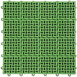 ◎日本製 特許申請 水切り ジョイントマット [type-E] 30枚 グリーン(A710-30-S1)