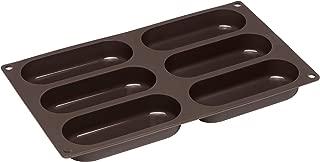 Lurch Germany Flexiform Hotdog Buns 11.8x6.9 inches 6 cavity brown