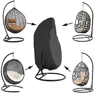 "Kasla Waterproof Cover for Patio Hanging Egg Swing Chair, Windproof Heavy Duty Garden Furniture Protector - 75""H x 45""D"
