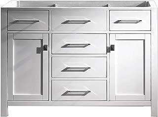 Virtu USA Caroline 48 inch Single Sink Bathroom Vanity Cabinet in White (Cabinet Only) - MS-2048-CAB-WH