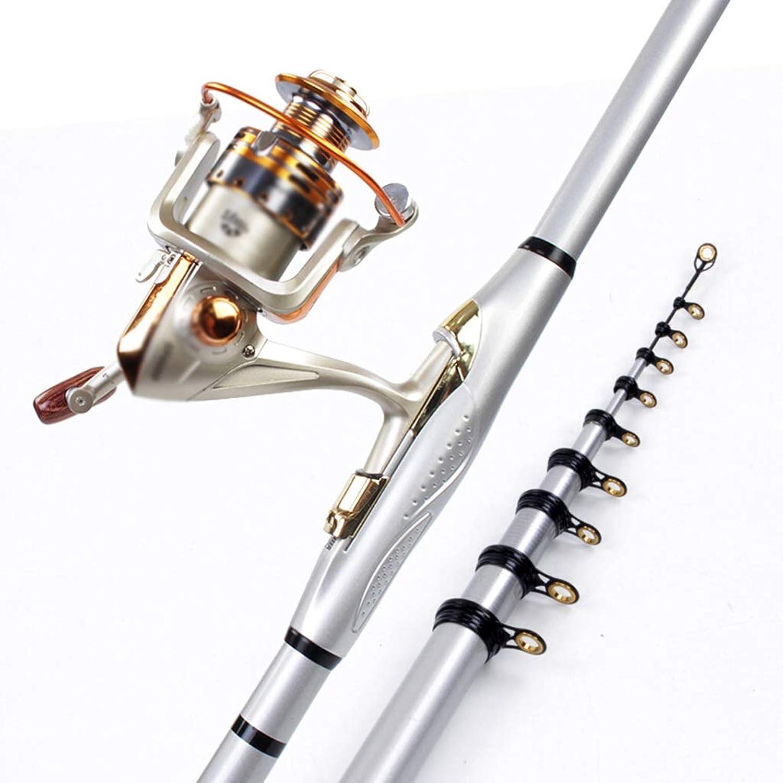 A-ZHP Angelwerkzeug Angelrute Carbon Hand Sea dual-use Ultraleicht super hart tragbare einziehbare Mini-Fanggerte Plus 4000 Keine Lücke Metall Radsatz