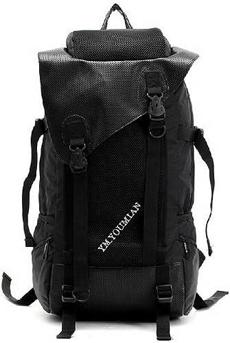 Laptop sac à dos noir grande capacité sac à dos Voyage à dos en nylon imperméable