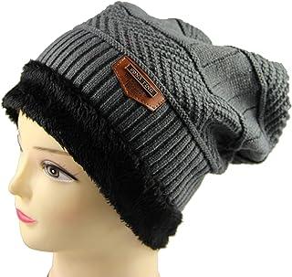 Men Winter Warm Knitting Hat Soft Warm Knitted Cap Homgee