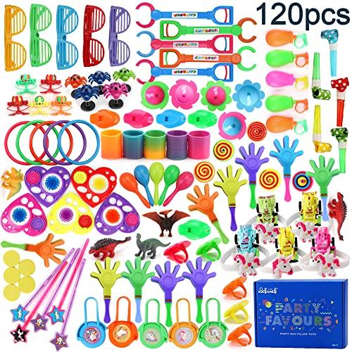 nicknack Relleno Pinata Infantil Juguetes,Unidades para niños Niños y Niñas piñata cumpleaños Infantil cumpleaños Partido Regalos 120 Piezas