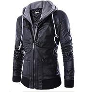 2018 Leather Jacket, Mens... 2018 Leather Jacket, Mens Motorcycle Biker Zipper Outwear Autumn&Winter Warm Coat