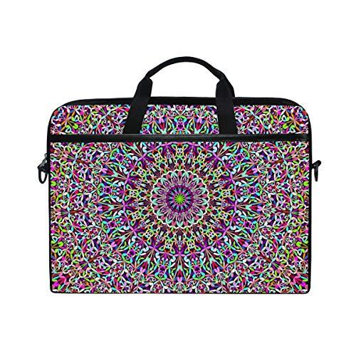 Ahomy Laptoptasche, 35,6 cm (14 Zoll), Mandala-Stoff, Laptoptasche mit Schultergurt für Damen & Herren