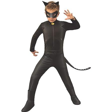 Ladybug - Disfraz de Cat Noir para niños, talla 5-6 años (Rubie'S 640904-M)