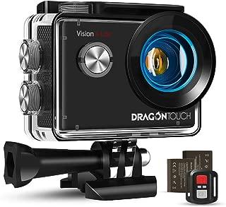 Dragon Touch Cámara Deportiva WiFi 4K 20MP Cámara de Acción con Control Remoto Mic Externo EIS 170°Gran Angular Cámara Sumergible Acuática 30m Impermeable 2 Baterías Multi Accesorios (Vision 4 Lite)