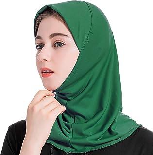 Amorar Donna Moda Foulard Musulmana Sciarpa Donna Copricapo Hijab Islamico Facciale Turbante Collo Chemio Cappuccio Bandana Capelli Asciugamano Berretto Berretti