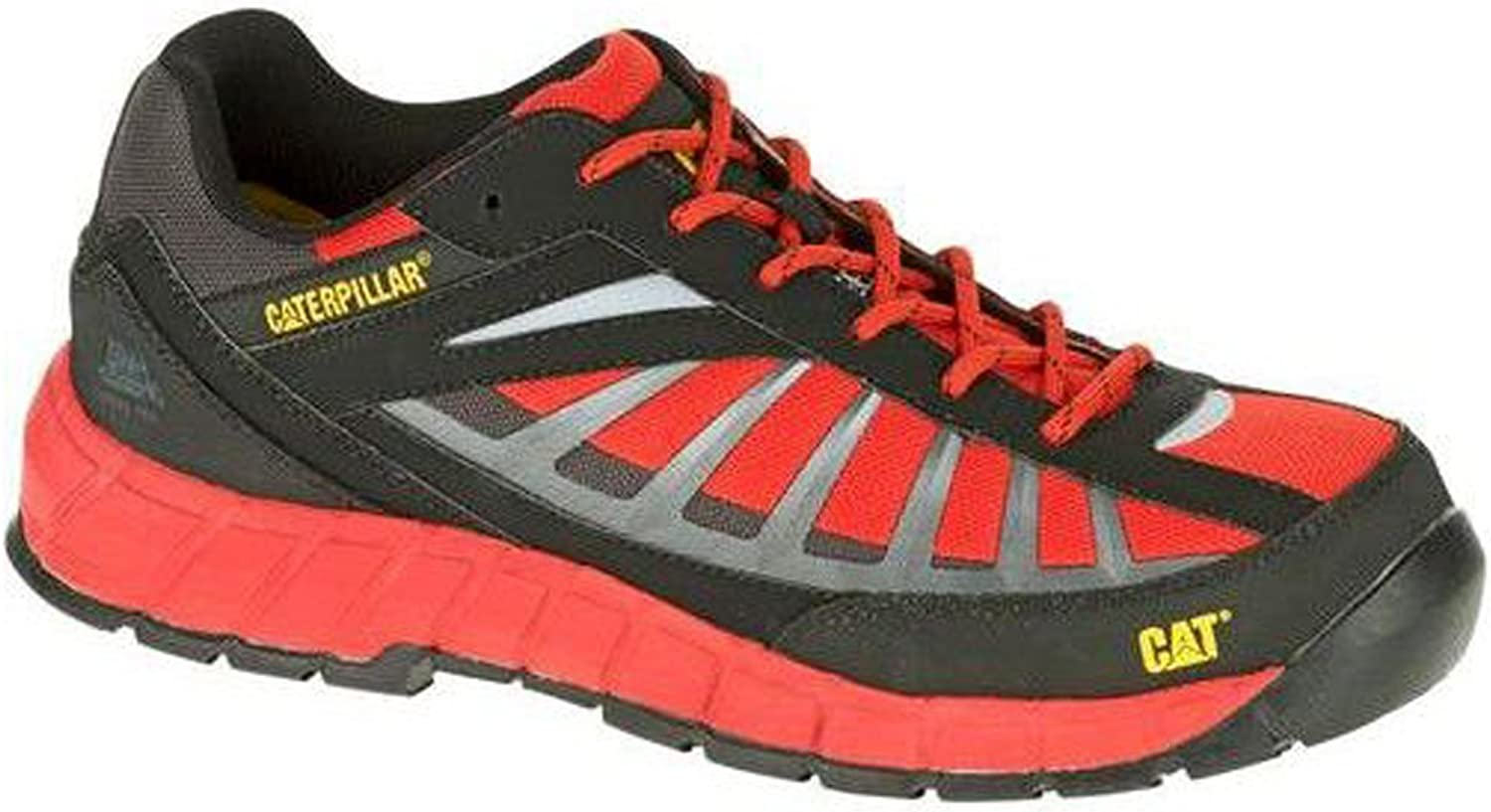 Caterpillar Infrastructure ST Mens Work Trainers Black   Red UK 13