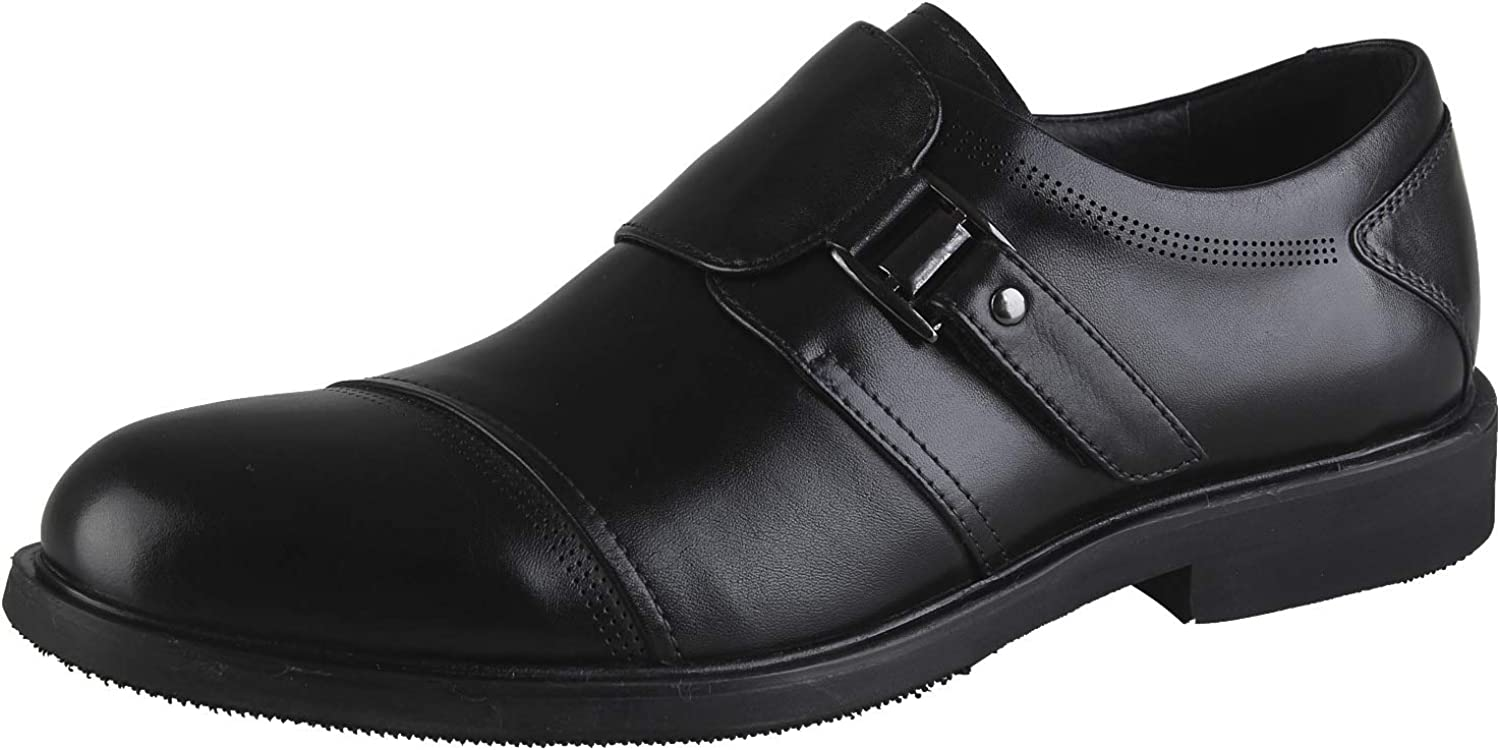 Men's Casual shoes Leather Buckle Slip On Smart Ankle Boots