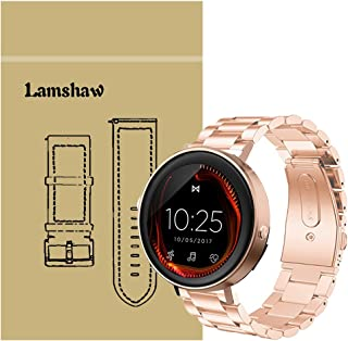 for Misfit Vapor Band, Lamshaw Stainless Steel Metal Replacement Straps for Misfit Vapor Touchscreen Smartwatch (Rose Gold)
