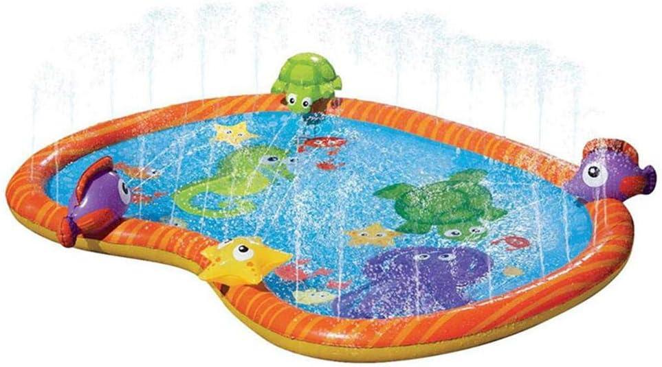 Rociador Y Almohadilla De Salpicadura Para Niños Piscina Infantil Para Niños Piscina De Rociadores De Agua Almohadilla De Salpicadura Para Niños Con 3D Mundo Submarino Animales Niños Juguete De Agua