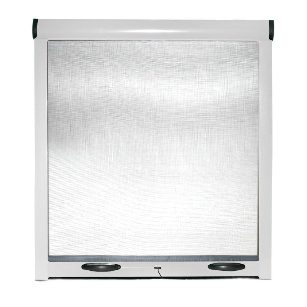 Mosquitera enrollable para ventanas, puertas, estructura de aluminio, 140 x 170 cm, color blanco, marrón - Kit Hágalo usted mismo: Amazon.es: Bricolaje y herramientas