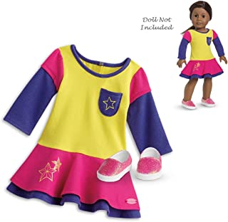 "American Girl Truly Me Playful Color-Block Dress Outfit in Bag for 18"" Dolls (Doll Not Included)"