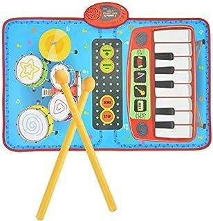 Popsugar 2-in-1 Drum Piano Combo Play Mat Educational Musical Playmat