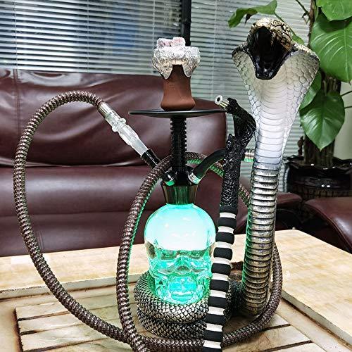 WJMT Forma Shisha narguile narguile Pipa Cobra Sheesha Parte Juego Cachimba Que Fuma Conjunto De Noche Partes Familiar al Aire Libre (Color : B)