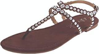 Catwalk Women's Brown Flat Slip Fashion Espadrille