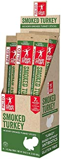 Caveman Foods Paleo – Certified, Keto Friendly, Gluten Free, Low Carb Smoked Turkey Snack Stick, 1 Ounce, 20 count