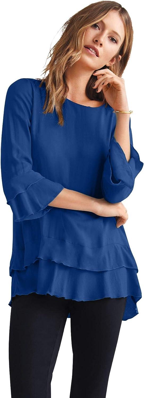 Financial sales sale ellos Washington Mall Women's Plus Size Tunic Ruffle Tiered