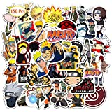 YUIP Autocollants Naruto, 150Pcs Naruto Laptop Stickers Anime Waterproof Stickers for Skateboard, Luggage,Helmet,Guitar