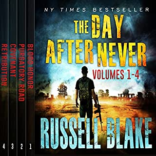 The Day After Never Bundle (First 4 Novels)                   By:                                                                                                                                 Russell Blake                               Narrated by:                                                                                                                                 John David Farrell                      Length: 32 hrs and 34 mins     40 ratings     Overall 4.2