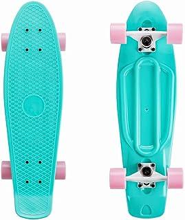 SKATEBOLT Mini Style Skateboard per Bambini Ragazze e Ragazzi per Principiante Cruiser Tavola Completa Plastica Deck Alto ...