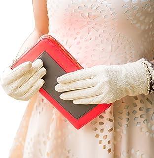 Nappaglo Guanti da donna in pizzo guanti protezione solaretouch screen estate arco all'aperto protezione UV
