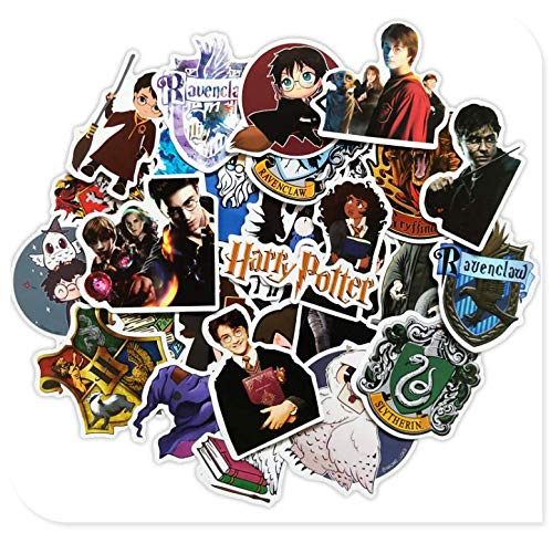 Harry Potter Luggage Stickers Trolley Case Laptop Guitar Panel Decorative Wall Stickers 30 Sheets