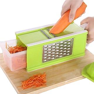 Trancheuse Mandoline coupe-légumes Veggie Dicer Cuisine Râpe multifonction Appareil de légumes manuellement Shred carottes...