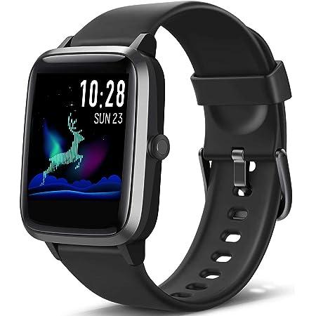 Blackview Smartwatch, Reloj Inteligente con Pulsómetro Mujer Hombre Niños, Monitor de Sueño, 45 Días Batería Ultra Larga Duracion, Reloj de Fitness para iOS y Android Xiaomi Huawei Samsung iPhone